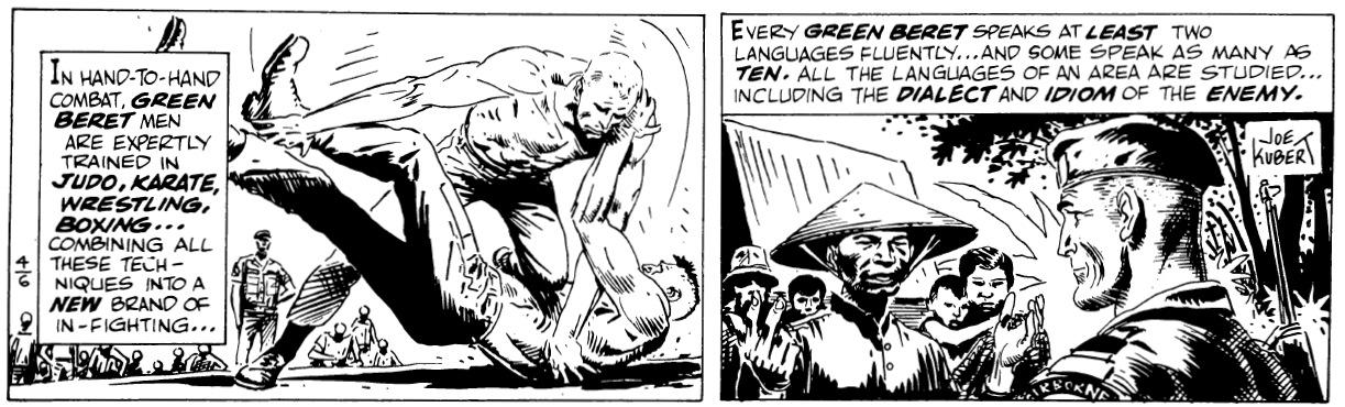 Green Berets av Joe Kubert, stripp