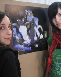 Emi Greneby och Natalia Batista
