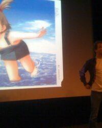 Mangaöversättaren med en friad bild. Foto: Marcus Lindmark.