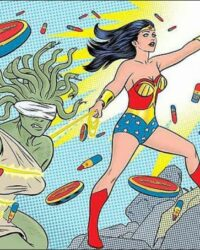 Wonder Woman i sminkreklam av Mike Allred