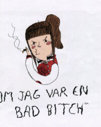 om jag var en bad bitch omslag