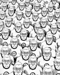 Personer från olika parallelluniversuma ur SH3 av Daniel Ahlgren.