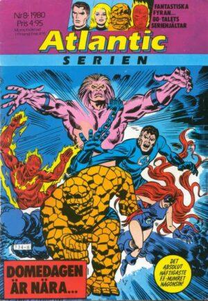 Omslag till Atlanticserien nr 8/1980 med Fantastiska Fyran (Fantastic Four)